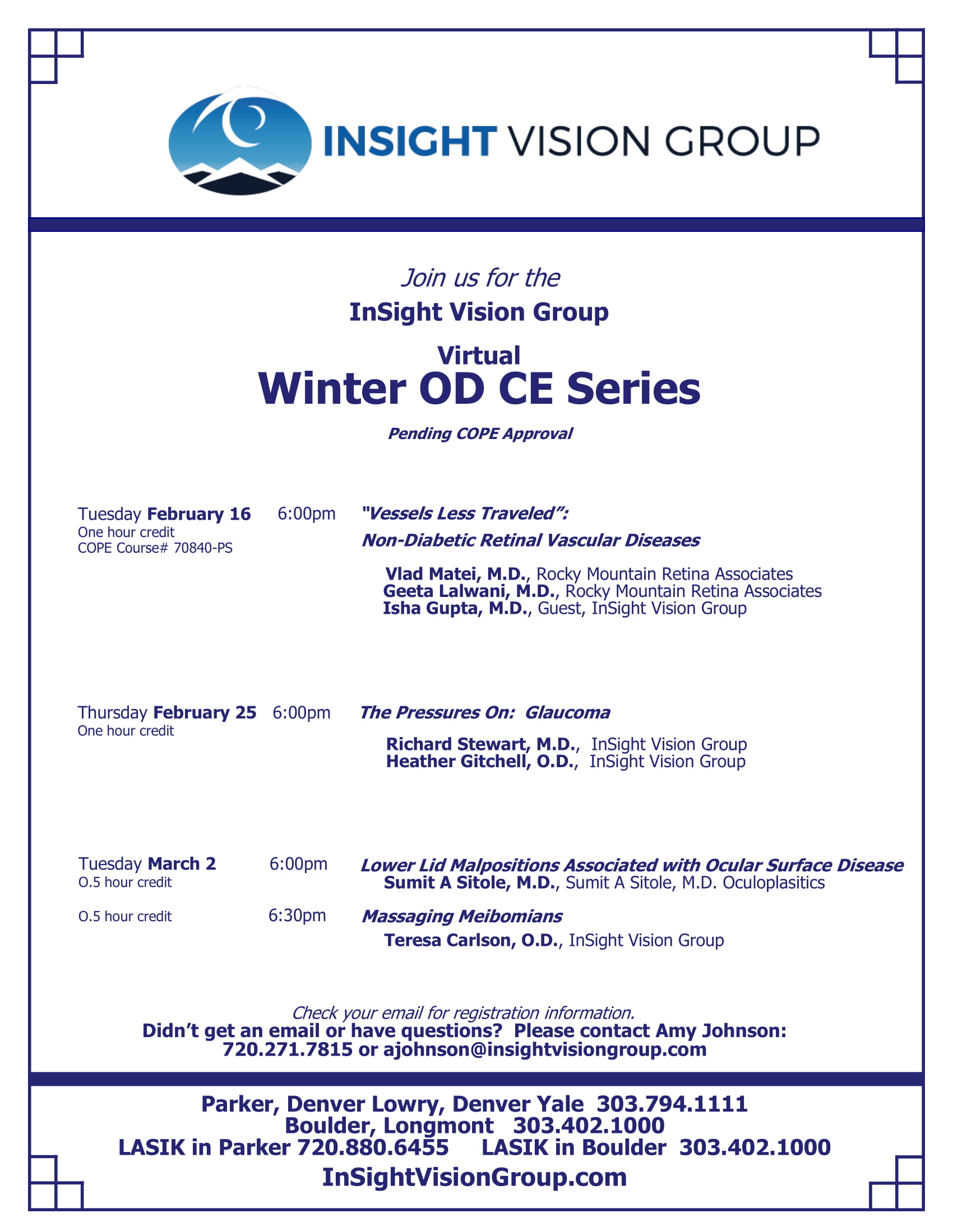2021 Winter OD CE Series